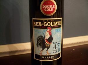 wine wednesday, rex goliath, merlot