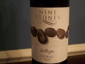 wine wednesday nine stones shiraz