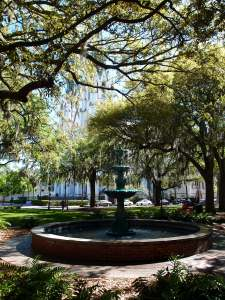 One of Savannah's many squares