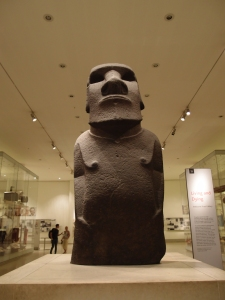 one of the Easter Island statues