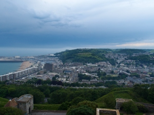 the view of Dover from the top of the Great Tower
