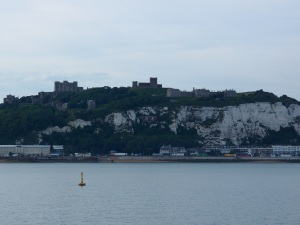 Dover Castle atop the cliffs