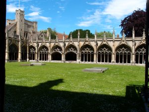 part of the church cloisters