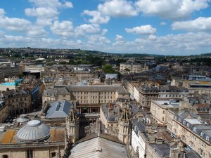 view of Bath from the top of the tower