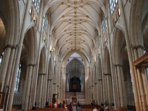 down the nave
