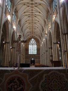 back down the nave