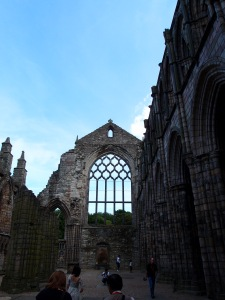 The remains of the 12th century Holyrood Abbey