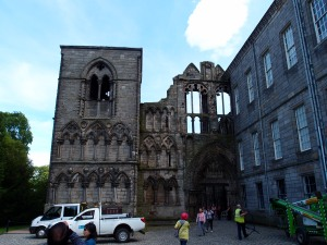 The abbey predates the palace and ended up being incorporated into the building