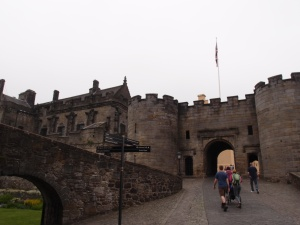 approaching Stirling Castle