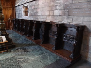 The 15th century choir stalls
