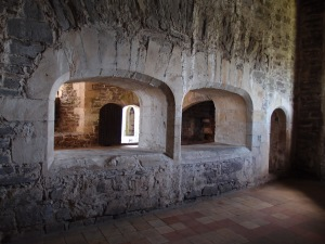 part of the kitchen where servants could pass food
