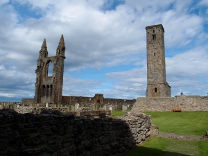 St. Rule's tower existed prior to the building of the cathedral and was incorporated into the design.