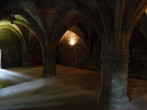 Part of the ground floor vaults that still stand.