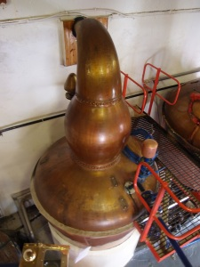 one of the copper stills