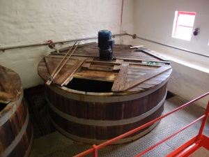 one of the wash backs, where the fermentation process begins