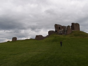 approaching the castle which was built atop a small hill (key point in the motte and bailey structure)