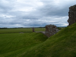 The walls of the castle area extend father out and would have previously encompassed a small village.