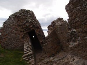 I promise the camera was not sideways for this picture. Part of the castle has sunken into the ground at an angle.