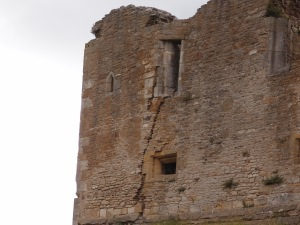 From the outside, you can see cracks in the castle walls and how windows have shifted.